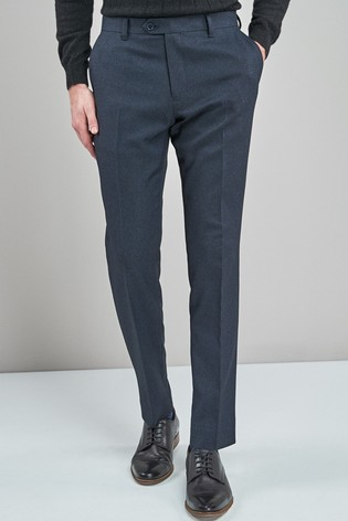 Navy Slim Fit Puppytooth Trousers