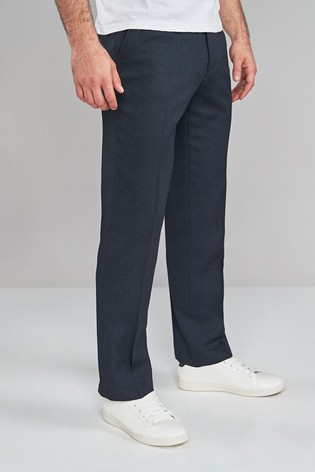 Navy Regular Fit Puppytooth Trousers