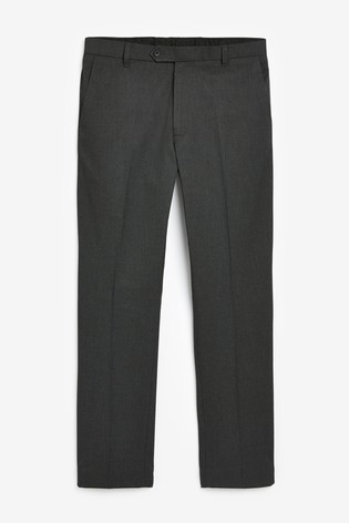 Charcoal Slim Fit Trousers With Stretch