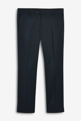 Navy Slim Fit Trousers With Stretch