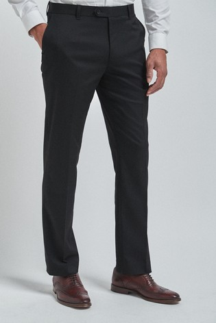 Black Regular Fit Trousers With Stretch