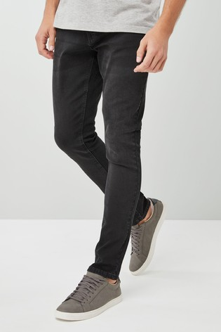 Black Super Skinny Fit Jeans With Stretch