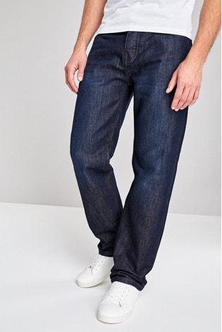Dark Wash Loose Fit Jeans