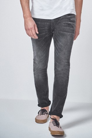Washed Black Skinny Fit Jeans With Stretch