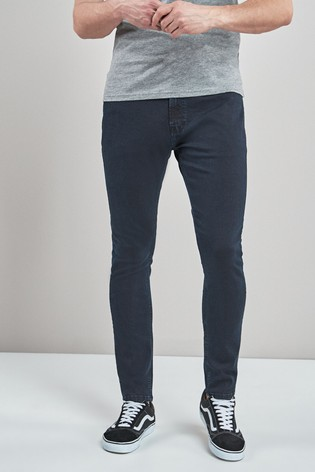 Blue/Black Skinny Fit Jeans With Stretch
