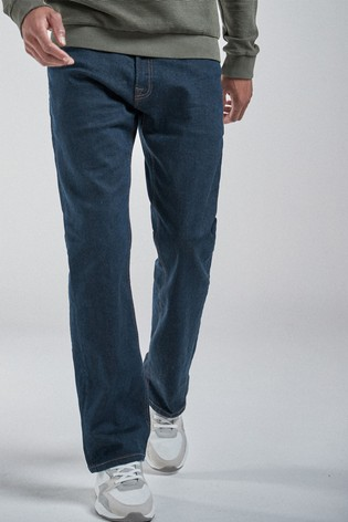Deep Blue Bootcut Fit Jeans With Stretch