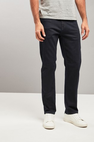 Blue/Black Straight Fit Jeans With Stretch