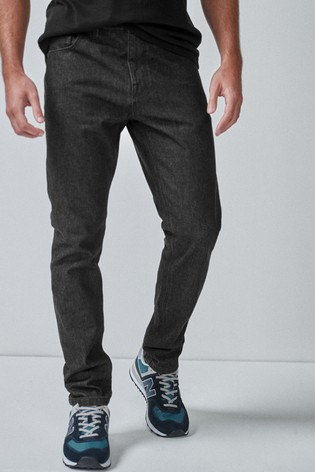 Black Slim Fit Cotton Rigid Jeans