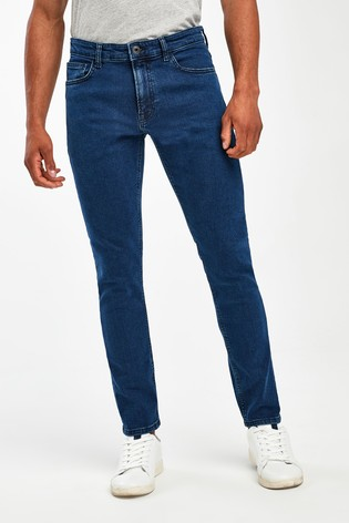 Deep Blue Skinny Fit Jeans With Stretch