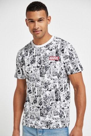 White Marvel® TV And Film Licence T-Shirt