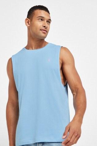 Blue Cut Off Vest