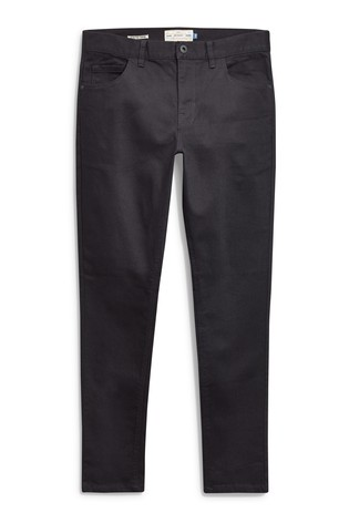 Solid Black Skinny Fit Jeans With Stretch