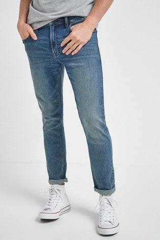 Vintage Wash Skinny Fit Motion Flex Stretch Jeans