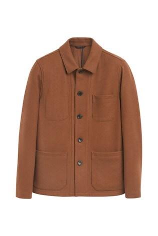 Tan Wool Blend Worker Jacket
