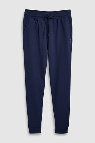 Navy Slim Cuffed Joggers Lightweight Loungewear