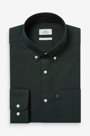 Forest Slim Fit Single Cuff Easy Iron Button Down Oxford Shirt