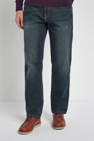 Dark Tint Loose Fit Jeans With Stretch