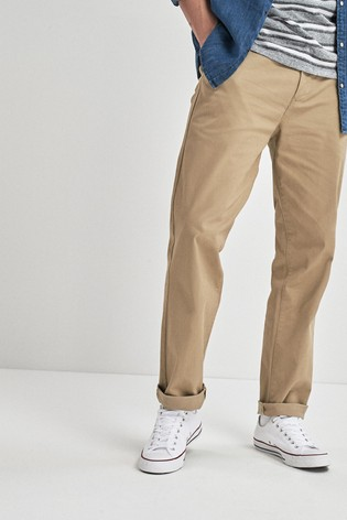Wheat Loose Fit Stretch Chinos