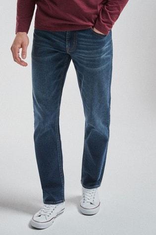 Blue Vintage Wash Slim Fit Motion Flex Stretch Jeans