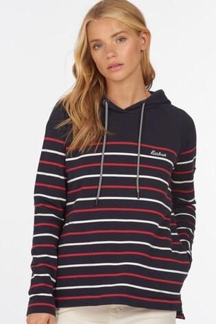 Barbour® Coastal Navy Stripe Holywell Hoodie