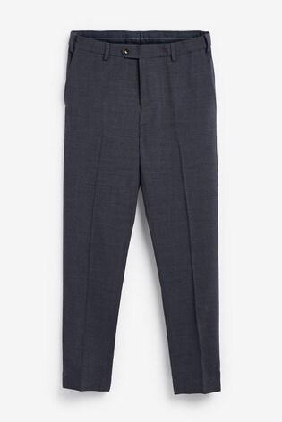 Navy Slim Fit Signature Motionflex Suit: Trousers