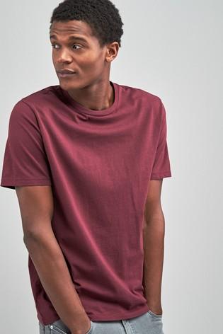 Burgundy Regular Fit Crew Neck T-Shirt