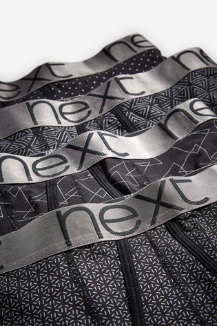 Black/Silver Pattern A-Fronts Four Pack