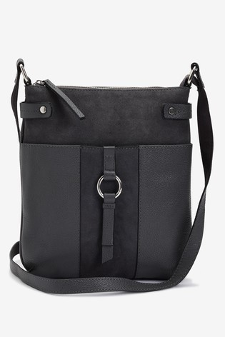 Black Leather Messenger Bag