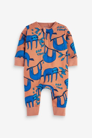 Bright Character 2 Pack Zip Sleepsuits (0mths-3yrs)