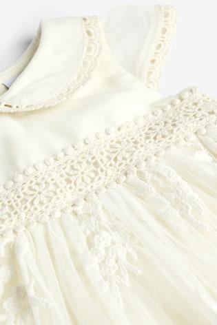 Ecru Vintage Occasion Dress (0mths-2yrs)