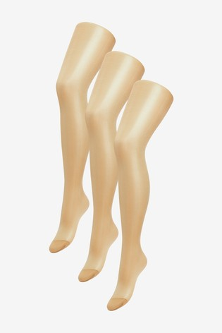 Golden Tan Sheer Gloss Tights Three Pack