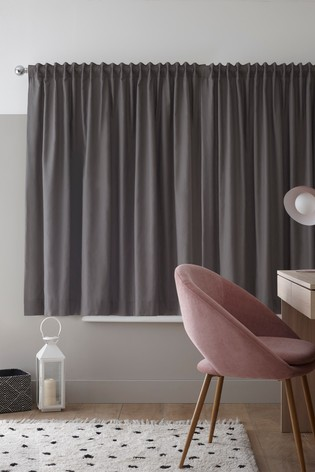 Multi Style Header Cotton Blackout Lined Curtains