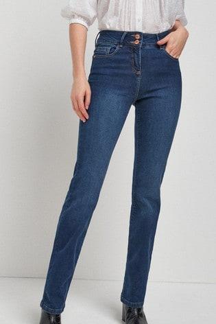 Dark Blue Enhancer Boot Cut Jeans