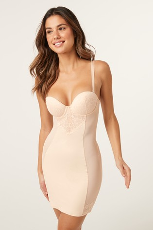 Nude Firm Control Cupped Lace Slip