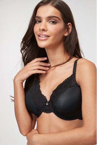 Black DD+ Minimise Full Cup Bra