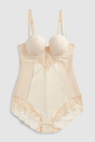 Nude Firm Control Cupped Lace Body