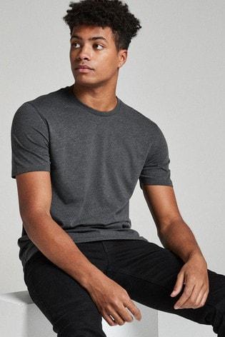 Charcoal Marl Regular Fit Crew Neck T-Shirt