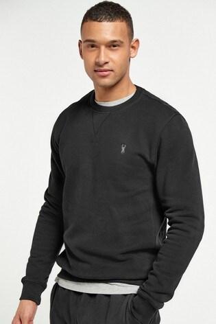 Black Crew Sweatshirt Jersey