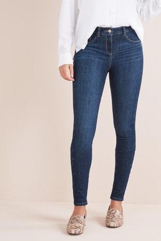 Dark Wash Skinny Jeans Womens