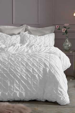 buy all over pleated duvet cover and pillowcase set from. Black Bedroom Furniture Sets. Home Design Ideas