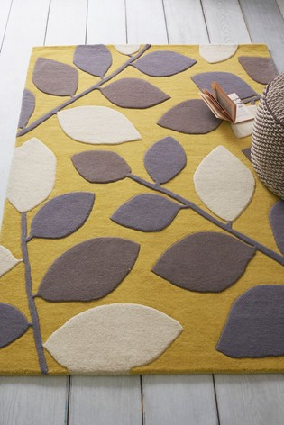 Buy Graphic Leaf Rug From The Next Uk Online Shop