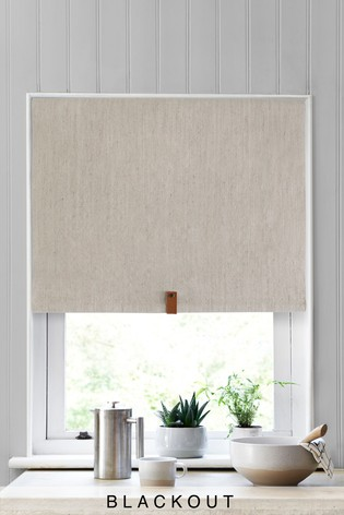 Buy Linen Look Blackout Roller Blind From The Next Uk