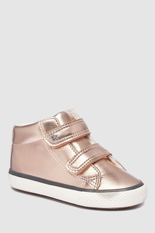 Buy Rose Gold High Top Trainers