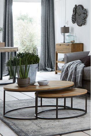Buy Bronx Nest Of 2 Coffee Tables From The Next Uk Online Shop
