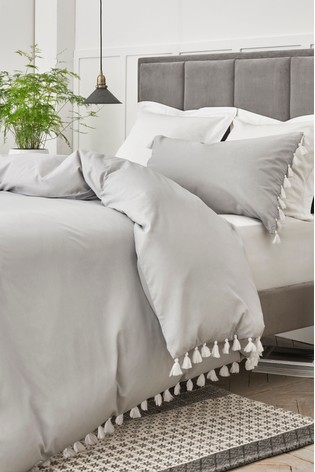 Buy Tassels Trim Duvet Cover And Pillowcase Set From The