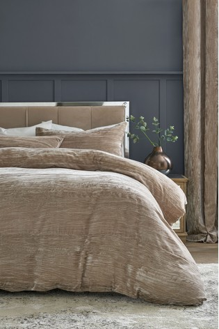 Buy Crinkle Velvet Duvet Cover And Pillowcase Set From The