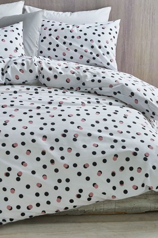 buy 2 pack polka dot duvet cover and pillowcase set from the next uk online shop. Black Bedroom Furniture Sets. Home Design Ideas