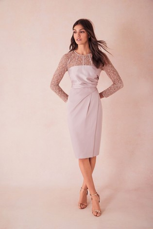 49dbdbbfaf34 Buy Coast Natural Lucy Lace Shift Dress from the Next UK online shop