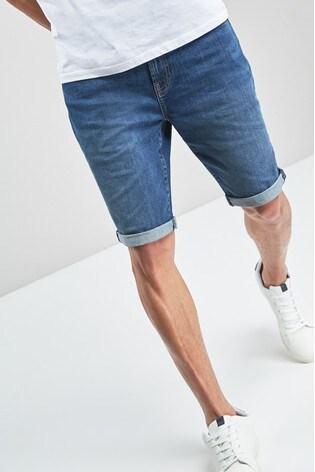 Denimshorts Comfort Fit Minicheck