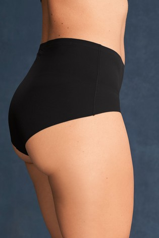 2f1ea6ad38a2 Buy Black/White/Nude Midi No VPL Knickers Three Pack from Next India
